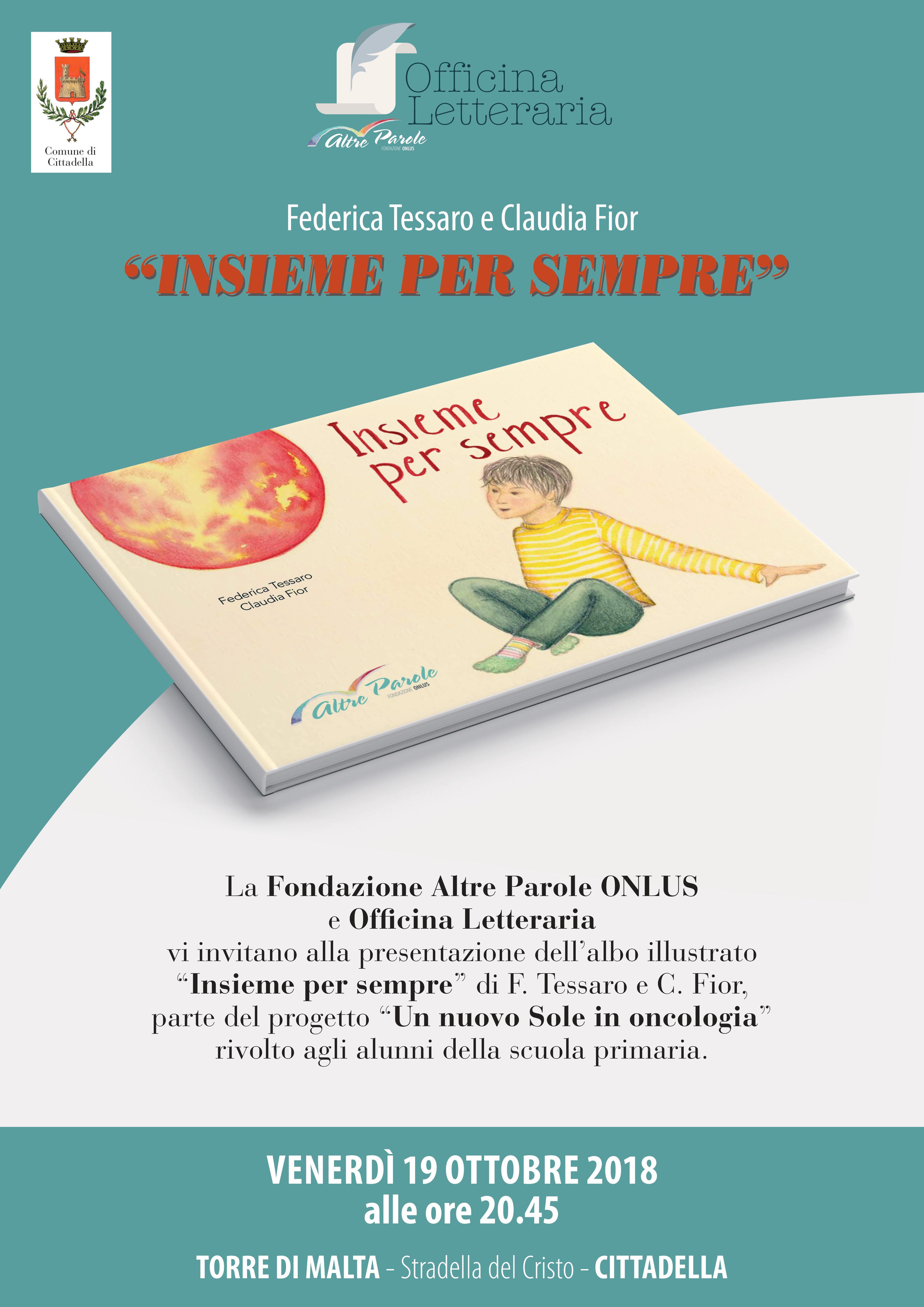 """Presentazione Albo Illustrato e progetto """"Un Nuovo Sole in Oncologia"""""""