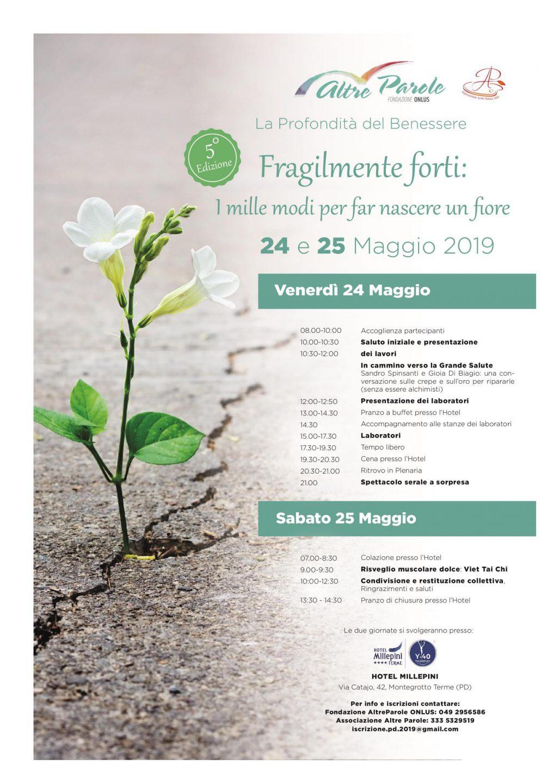 La Profondita Del Benessere 2019 Fondazione Altre Parole